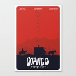 Django Unchained - minimal poster Canvas Print