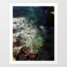 shore cliffs Art Print