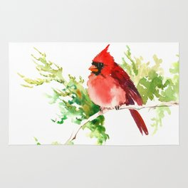 Cardinal Bird, stet birds decor design cardinal bird lover gift Rug