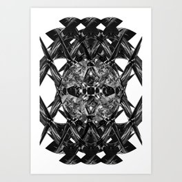 diamond cut Art Print