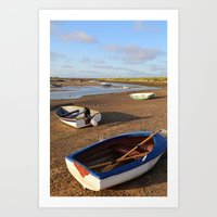 rowing Art Prints featuring Rowing Boats by Jude NH