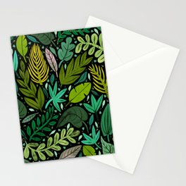 Green Scatter Stationery Cards