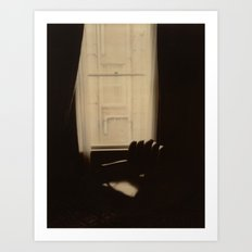 Chocolate Chair Polaroid Art Print