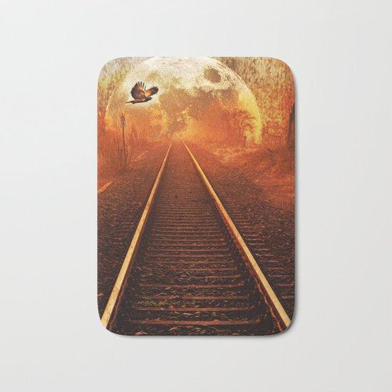 Railway to the moon Bath Mat