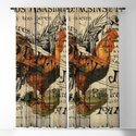 vintage typography barn wood shabby french country poulet chicken rooster by chicelegantboutique