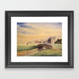 St Andrews Golf Course Scotland 18th Hole Framed Art Print