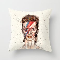 Bowie Inspired David Throw Pillow