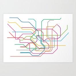 Tokyo Metro Art Print