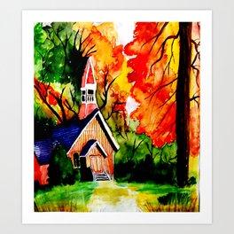 Country lodge Art Print
