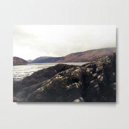 Scottish Highlands Rocky Shore Metal Print