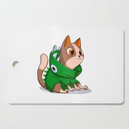 Cat dinosaur costume Cutting Board