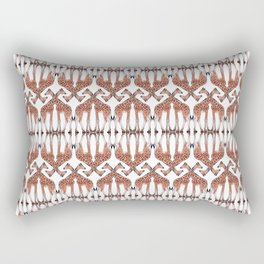 Geometric Giraffes - Repeating Giraffe Pattern Rectangular Pillow