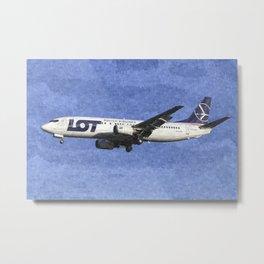 Lot Boeing 737 Art Metal Print
