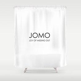 JOMO Shower Curtain