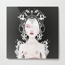 Doll portrait albino Metal Print