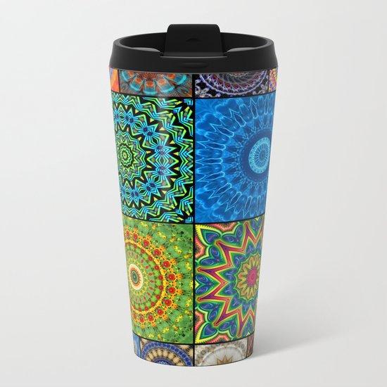 Mandala Madness Metal Travel Mug