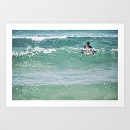 Surf, the wait. Art Print