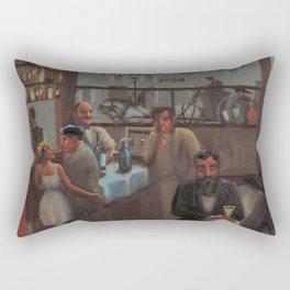 African-American 1929 Classical Masterpiece 'Paris, Cafe' by Archibald Motley Rectangular Pillow