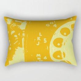 Telephone Line - Yellow Rectangular Pillow