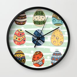 Easter Eggs Wall Clock