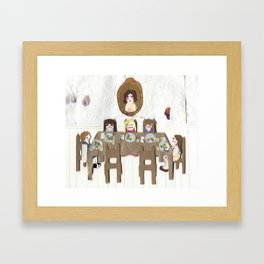 The Brussels Sprout Stand-off Framed Art Print