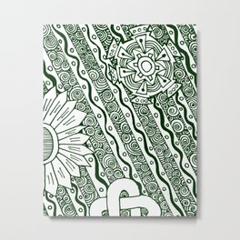 Zendoodle Artwork Metal Print