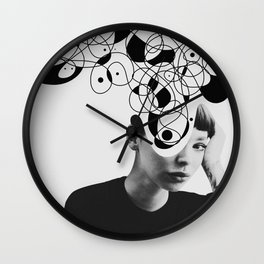 Abstraction - version 2. BW Wall Clock