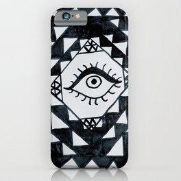 Eye geometric pattern iPhone Case