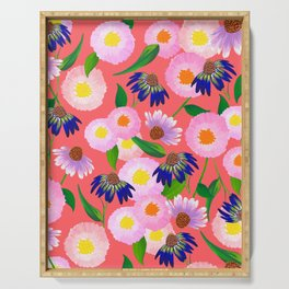 Summer Flowers Serving Tray