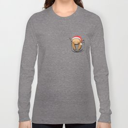Sloth in a Pocket Xmas Long Sleeve T-shirt