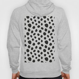 Black and White Polka dots pattern Hoody
