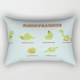 DANDYSAURUS Rectangular Pillow
