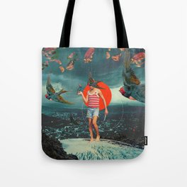 The Boy and the Birds Tote Bag