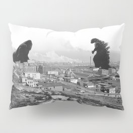 Old time Godzilla vs King Kong Reprised Pillow Sham