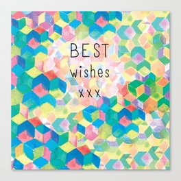Best Wishes..Kaleidoscope Canvas Print