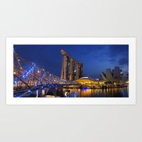 singapore Art Prints featuring Singapore by J. S. Wolf Photography