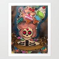 candy chick  Art Print