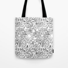 Infinity Robots Black & White Tote Bag
