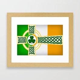 Celtic Irish Flag Framed Art Print