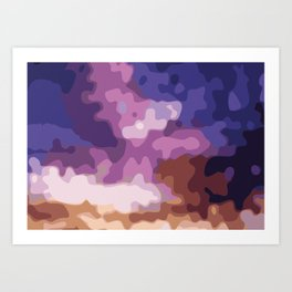Purple Clouds Art Print