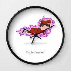 Psycho Crusher Wall Clock