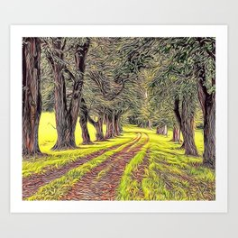 Green Avenue Airbrush Artwork Art Print