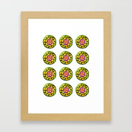 ethnic pattern yellow Framed Art Print