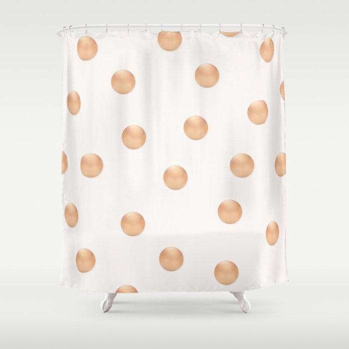 ROSE GOLD DOTS Shower Curtain by kindofstyle | Society6