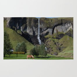 Horse in Iceland Rug