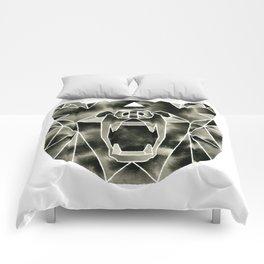 Fractured Geometric Bear Comforters