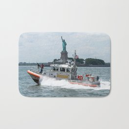 Coast Guard and Liberty Bath Mat