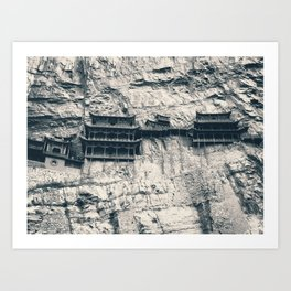 Hanging Temple in Datong Art Print