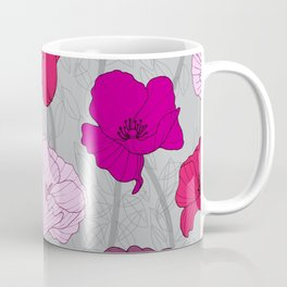 Purple Jewel Tone Hand Drawn Poppies Coffee Mug