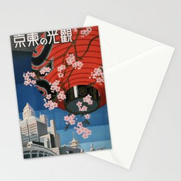 Tokyo, travel poster, 1930s Stationery Cards